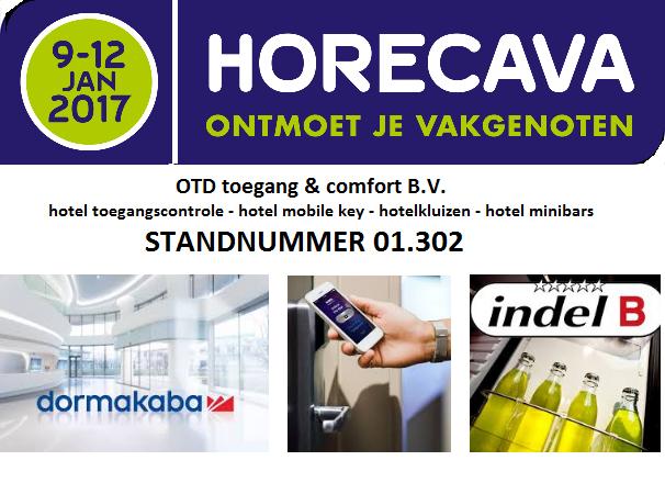 Horecava 2017 vakbeurs hotel keycardsystemen DormaKaba OTD Mobile Key BLE RFID NFC